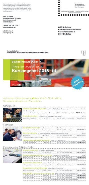 Baukaderschule St.Gallen 2013-2014 - und Weiterbildungszentrum ...