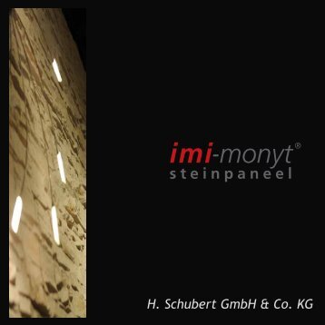 Montage der imi-monyt Steinpaneele - Download PDF.