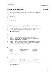 Lösungen B Deutsch Formative Lernkontrolle