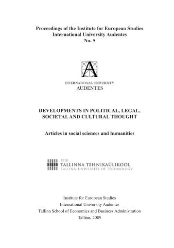 Title page and the articles (.pdf) - The Institute for European Studies