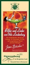 Bilder und Lieder vonUdo Lindenberg - Romantik Hotel Gravenberg