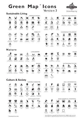 Susunan ikon dalam Peta Hijau meliputi 170 ikon dalam 12 kategori ...