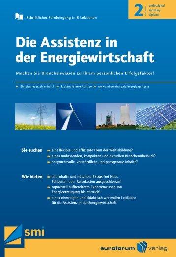 Die Assistenz in der Energiewirtschaft - IIR Deutschland GmbH