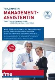 MANAGEMENT- ASSISTENTIN - IIR Deutschland GmbH