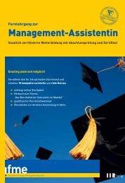 Management-Assistentin - IIR Deutschland GmbH