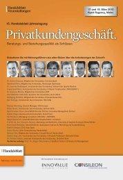 Privatkundengeschäft. - IIR Deutschland GmbH