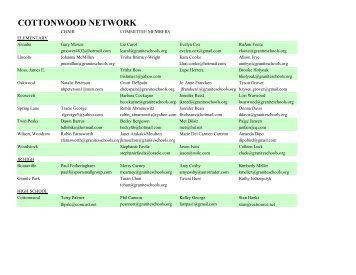 COTTONWOOD NETWORK - Granite School District