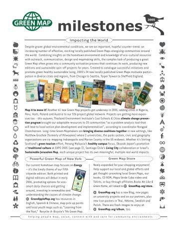 ?milestonesR2005 - Green Map System
