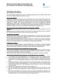 Patienteninformation MRSA - Sana Kliniken AG