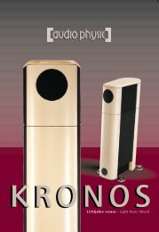 flyer Kronos - Audio Physic