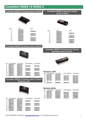 Connettori MODU I E MODU II - Grazia Componenti Elettronici