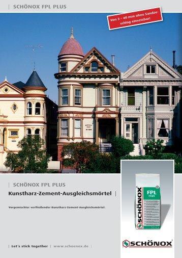   SCHÖNOX FPL PLUS Kunstharz-Zement-Ausgleichsmörtel ...