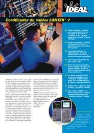 Certificador de cables LANTEK® 7 - Ideal Industries Inc.