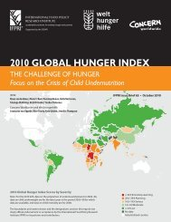2010 GLOBAL HUNGER INDEX The Challenge of Hunger: Focus ...