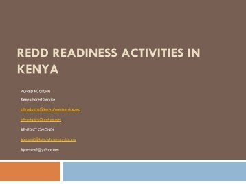 REDD Readiness Activities in Kenya - International Institute for ...