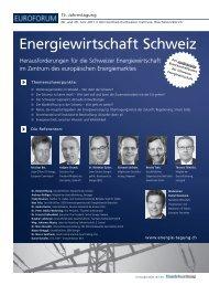 Energiewirtschaft Schweiz - IIR Deutschland GmbH