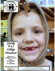 8th November 2012 Volume 35 - Goroke P-12 College