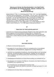 Baumschutzsatzung Stand 25.08.1997 - Gotha