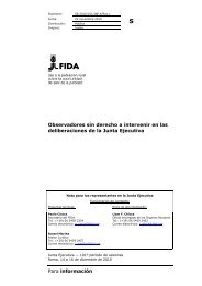 Para información Observadores sin derecho a intervenir en ... - IFAD