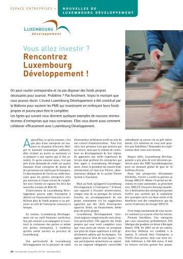Rencontrez Luxembourg Développement ! (PDF) - Idelux