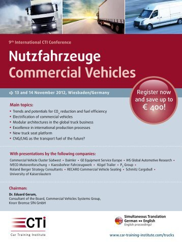Nutzfahrzeuge Commercial Vehicles - IIR Deutschland GmbH