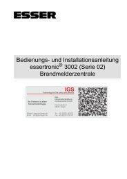Brandmelderzentrale essertronic 3002 - IGS-Industrielle ...