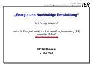 Energie und Nachhaltige Entwicklung - Institut für Energiewirtschaft ...