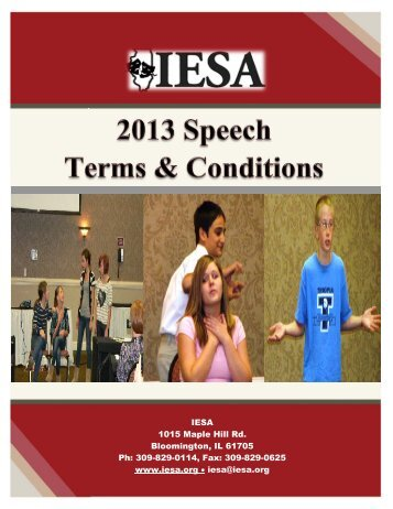 speech - Illinois Elementary School Association