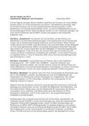 Die drei Säulen der IFLA: Gesellschaft, Mitglieder und Facharbeit