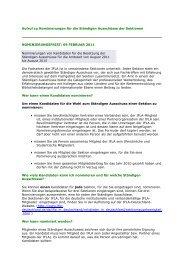 Aufruf zu Nominierungen für die Ständigen Ausschüsse der ...