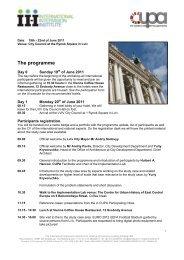 Draft program Lviv (version 16th June 2011) - Iiinstitute.nl