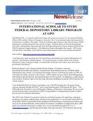 international scholar to study federal depository library program at gpo