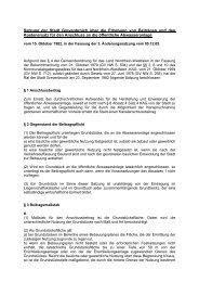 Satzung über die Erhebung von Beiträgen und den Kostenersatz für ...