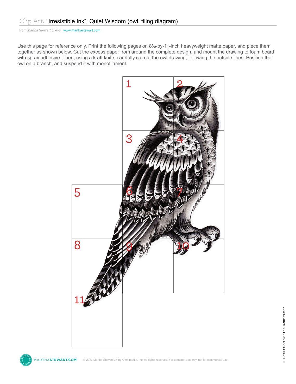 Owl template printable martha stewart - photo#8