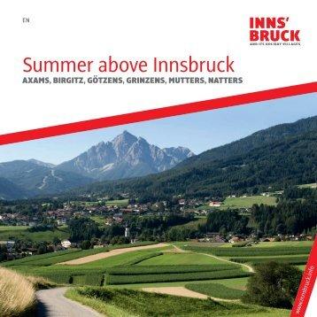 Summer above Innsbruck