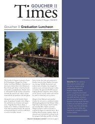 Goucher II Fall 2010 Newsletter - Goucher College