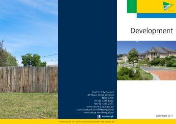 Development (PDF File, 344.8 kB) - Gosford City Council