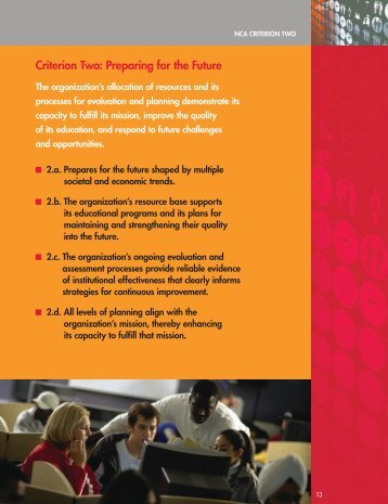 Criterion two: Preparing for the Future - Illinois Institute of Technology