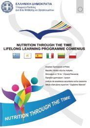 nutrition through the time lifelong learning programme comenius