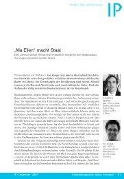 """Ma Ellen"" macht Staat - Global Public Policy institute"