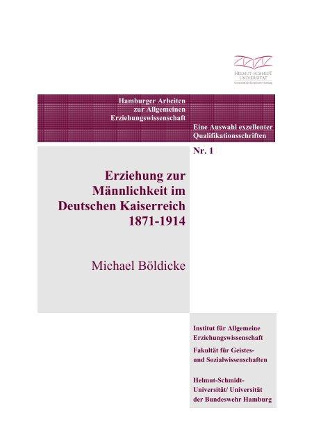 Erziehung Zur Männlichkeit Im Deutschen Kaiserreich 1871 1914