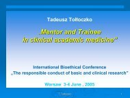 """"""" """"Mentor and Trainee in clinical academic medicine"""""""