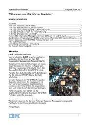 Informix Newsletter 03/2013 - The Informix Zone