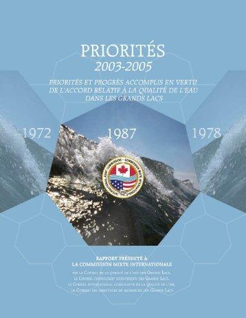 Accord relatif à la qualité de l'eau dans les Grands Lacs