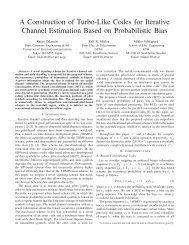 A Construction of Turbo-Like Codes for Iterative Channel ... - NTNU