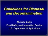 Guidelines for Disposal and Decontamination