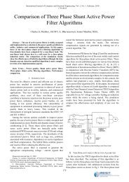 Comparison of Three Phase Shunt Active Power Filter ... - ijcee