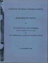champlain waterway feasibility report supplementary report