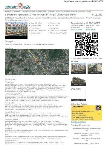 Propertywala.com - 1 Bedroom Apartment / Flat for Rent in Pimpri ...