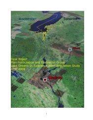 Lake Ontario St. Lawrence River Regulation Study - International ...
